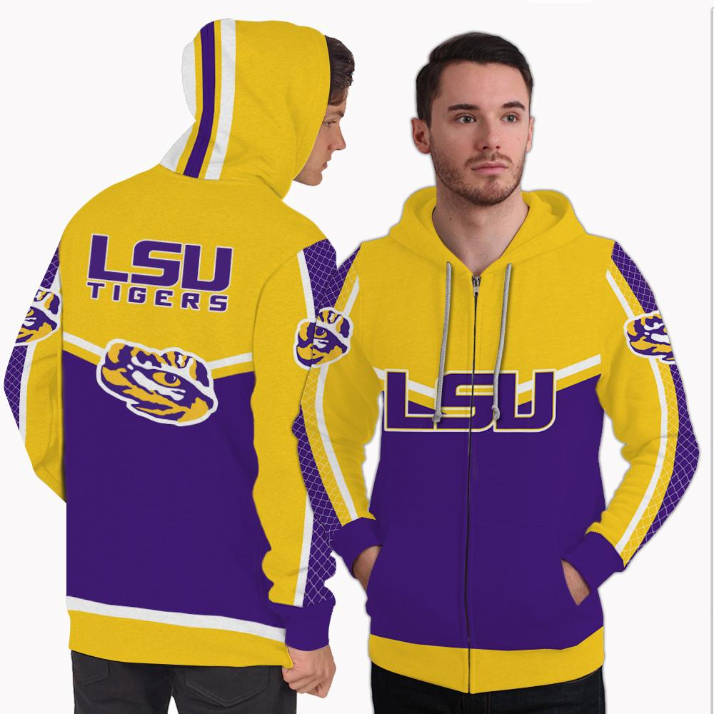 Strong Gorgeous Fitting LSU Tigers Zip Hoodie
