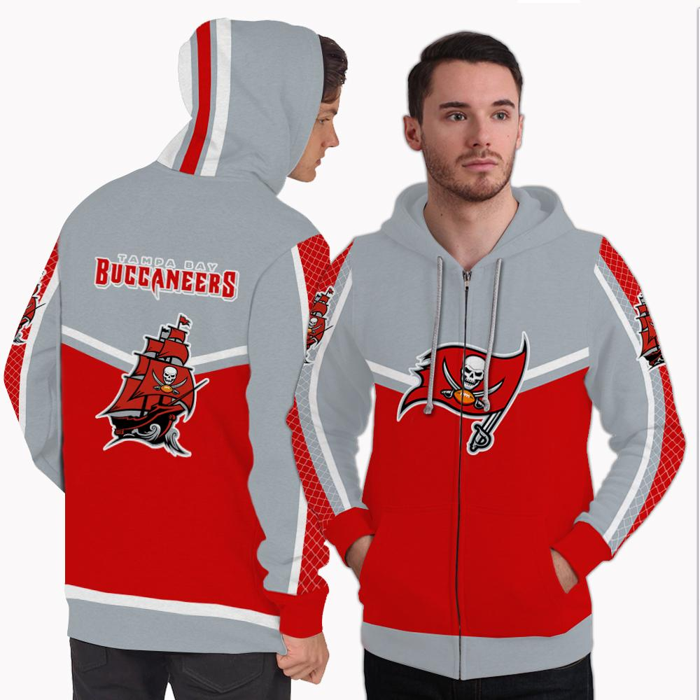 Strong Gorgeous Fitting Tampa Bay Buccaneers Zip Hoodie