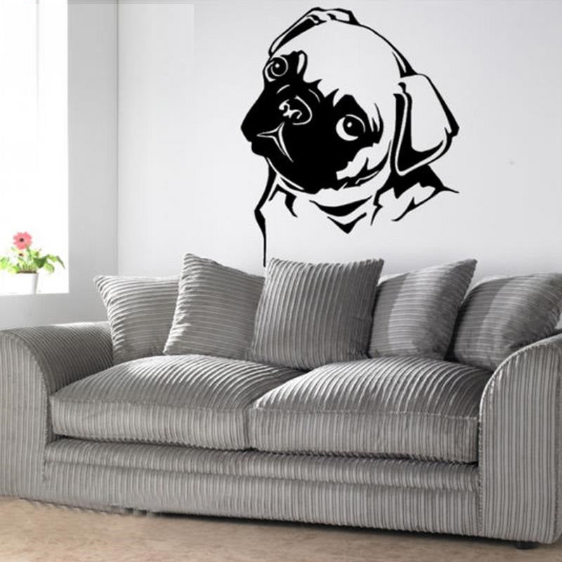 Black&White Pug Dog Stickers