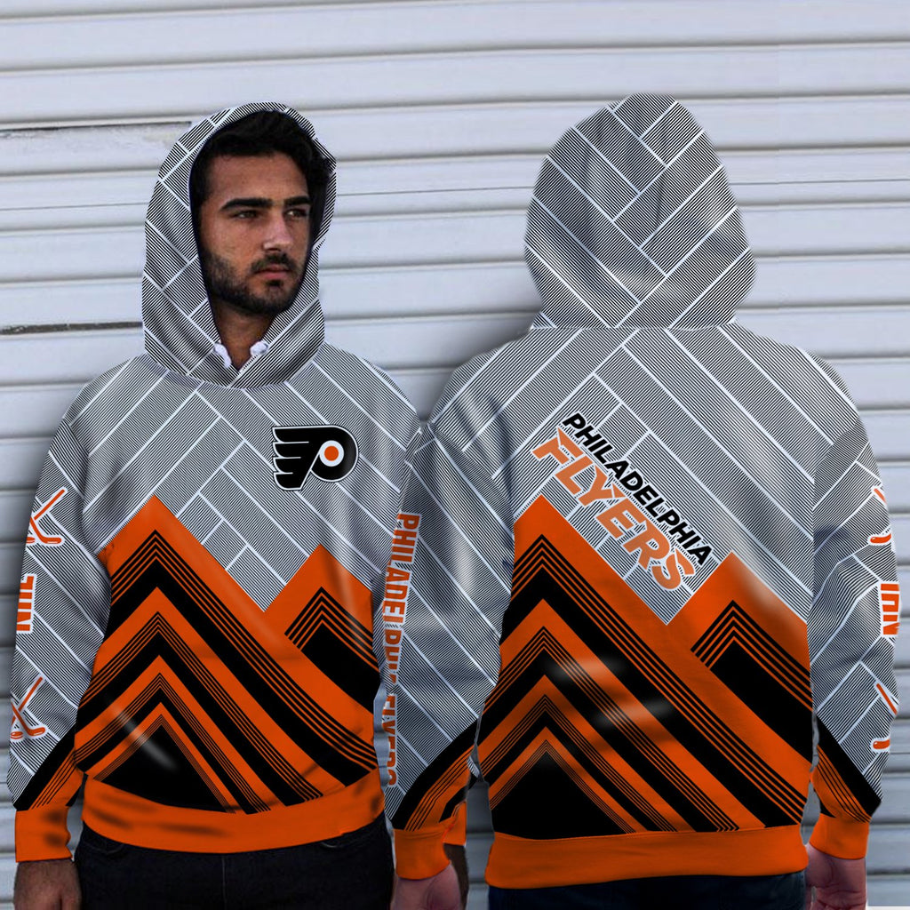 Simple Cross Line Philadelphia Flyers Hoodie