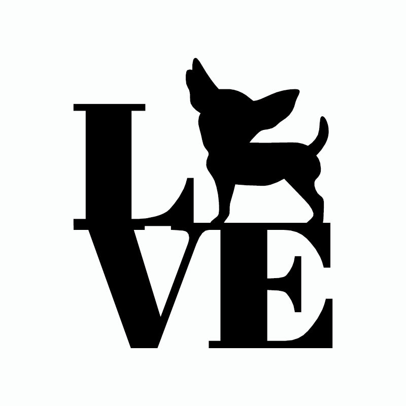 Love Chihuahua Funny Dog Stickers