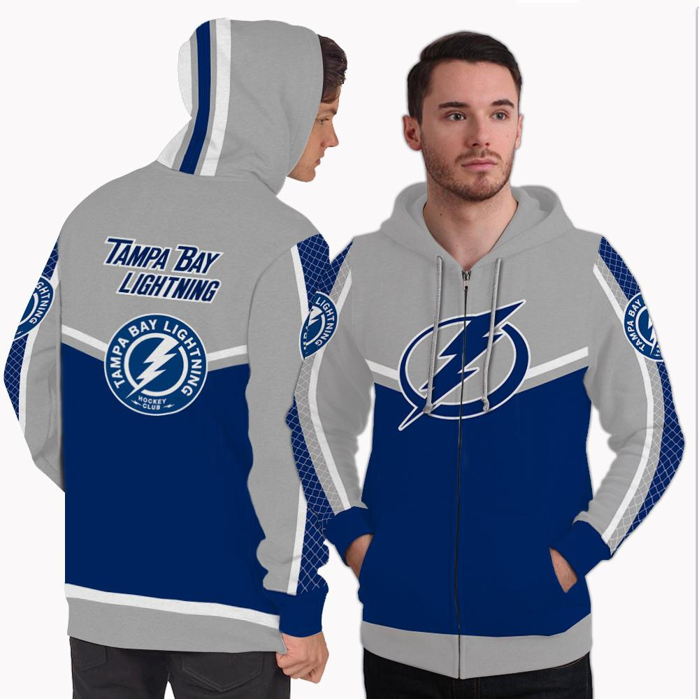 Strong Gorgeous Fitting Tampa Bay Lightning Zip Hoodie
