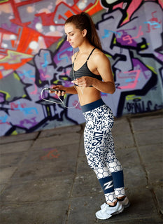 Incredible Patterns Luxury Akron Zips Leggings