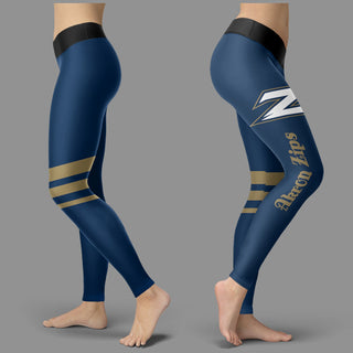 Through Logo Spread Body Striped Circle Akron Zips Leggings