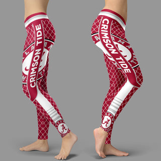 Single Small Line Circle Stylish Fashion Alabama Crimson Tide Leggings