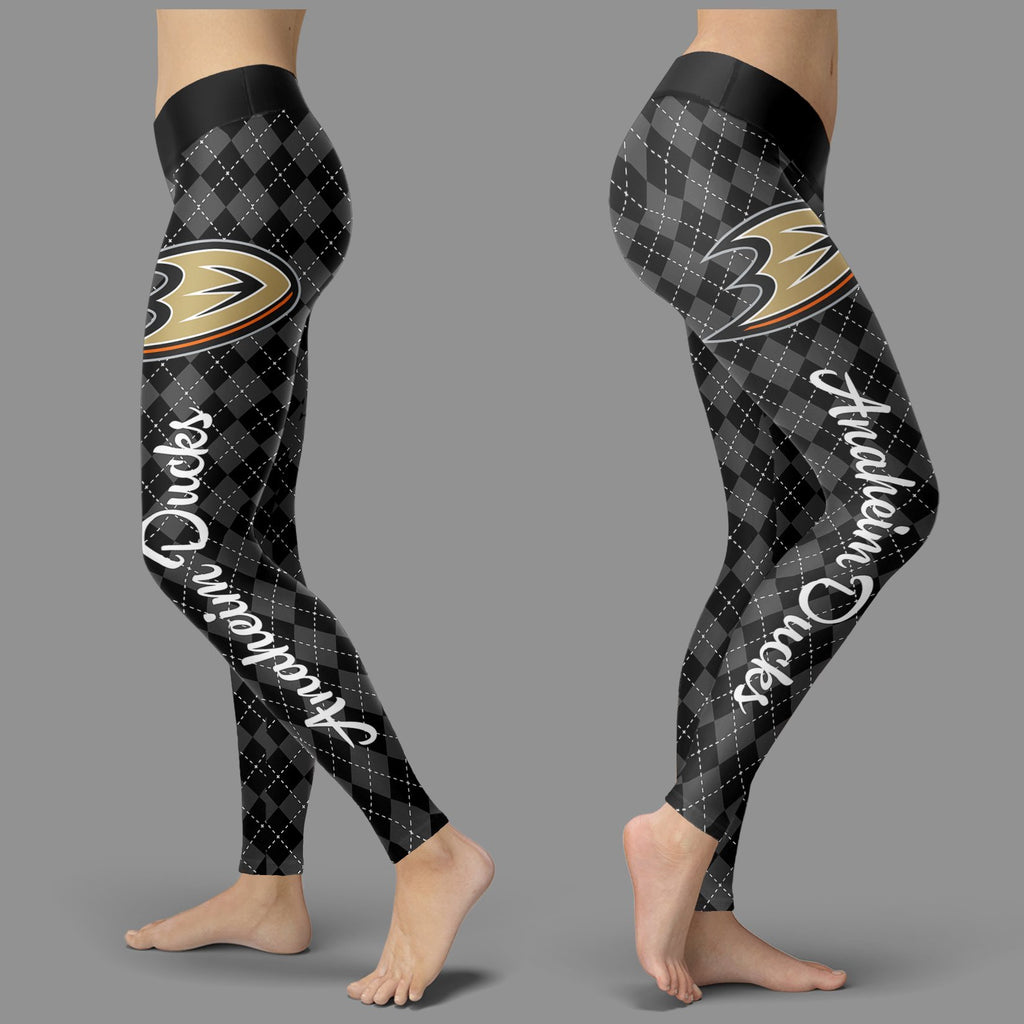 Cosy Seamless Colorful Anaheim Ducks Leggings