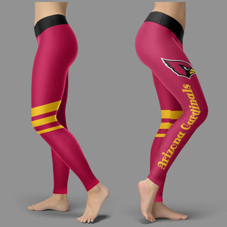 Through Logo Spread Body Striped Circle Arizona Cardinals Leggings