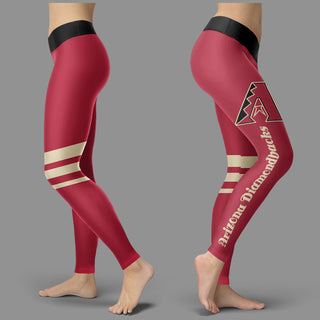 Through Logo Spread Body Striped Circle Arizona Diamondbacks Leggings