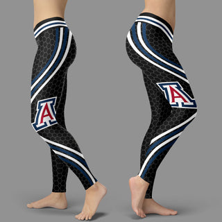 Black Curve Arizona Wildcats Leggings