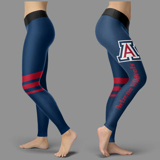 Through Logo Spread Body Striped Circle Arizona Wildcats Leggings