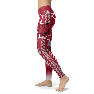 Awesome Light Attractive Arkansas Razorbacks Leggings