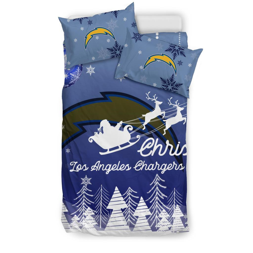 Merry Christmas Gift Los Angeles Chargers Bedding Sets Pro Shop