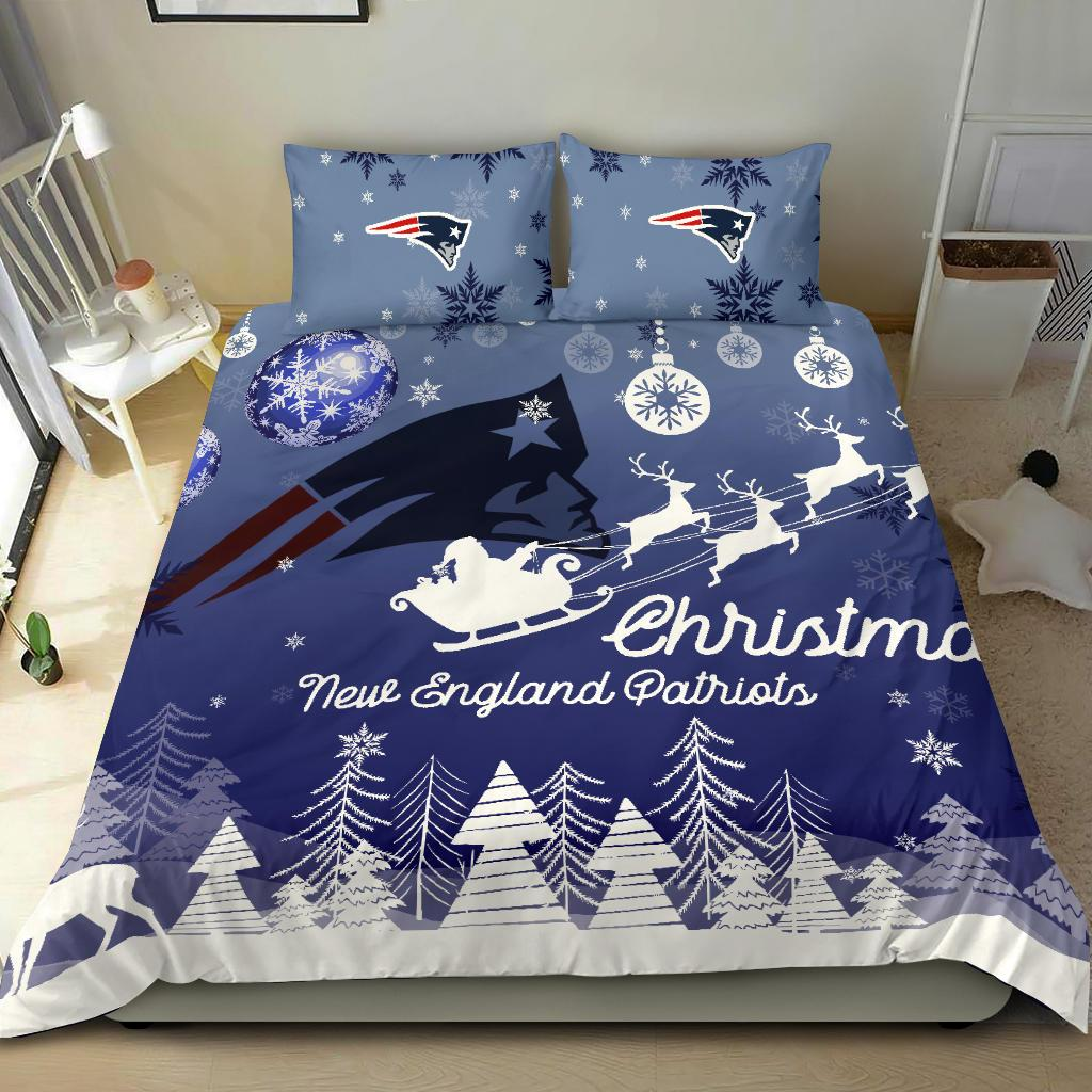 Merry Christmas Gift New England Patriots Bedding Sets Pro ...