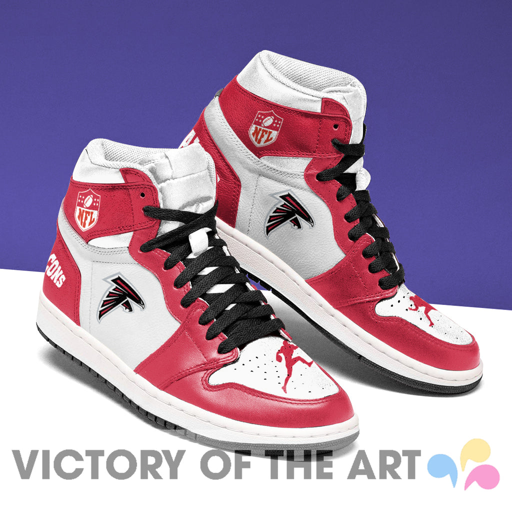 Simple Logo Atlanta Falcons Jordan Shoes