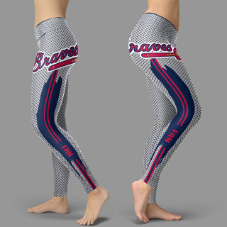 Charming Lovely Fashion Atlanta Braves Leggings