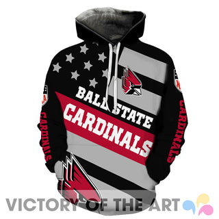 American Stars Proud Of Ball State Cardinals Hoodie