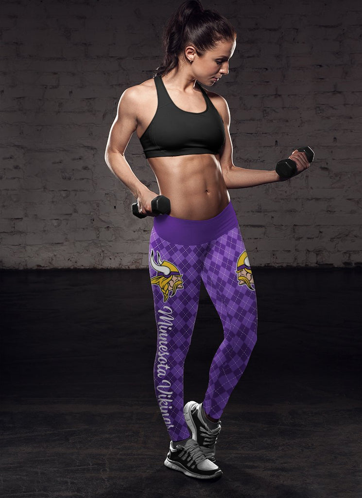 Cosy Seamless Colorful Minnesota Vikings Leggings
