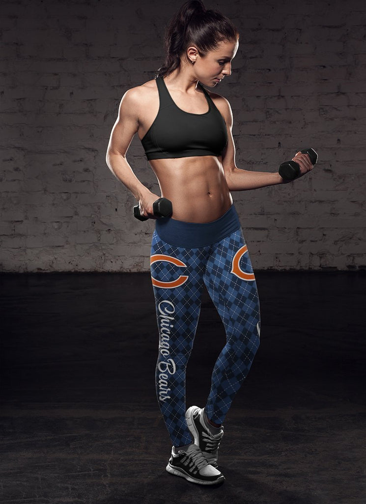 Cosy Seamless Colorful Chicago Bears Leggings