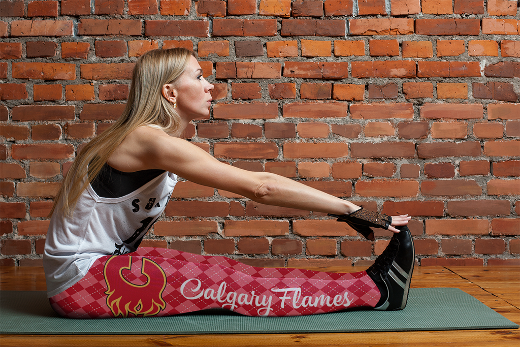 Cosy Seamless Colorful Calgary Flames Leggings