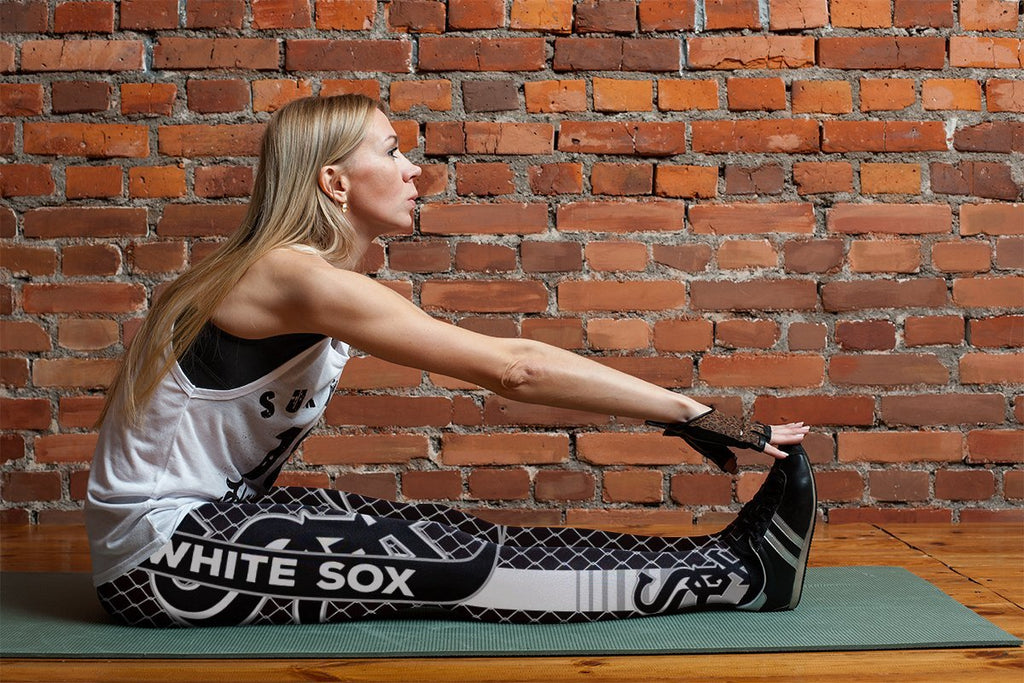 Single Small Line Circle Stylish Fashion Chicago White Sox Leggings