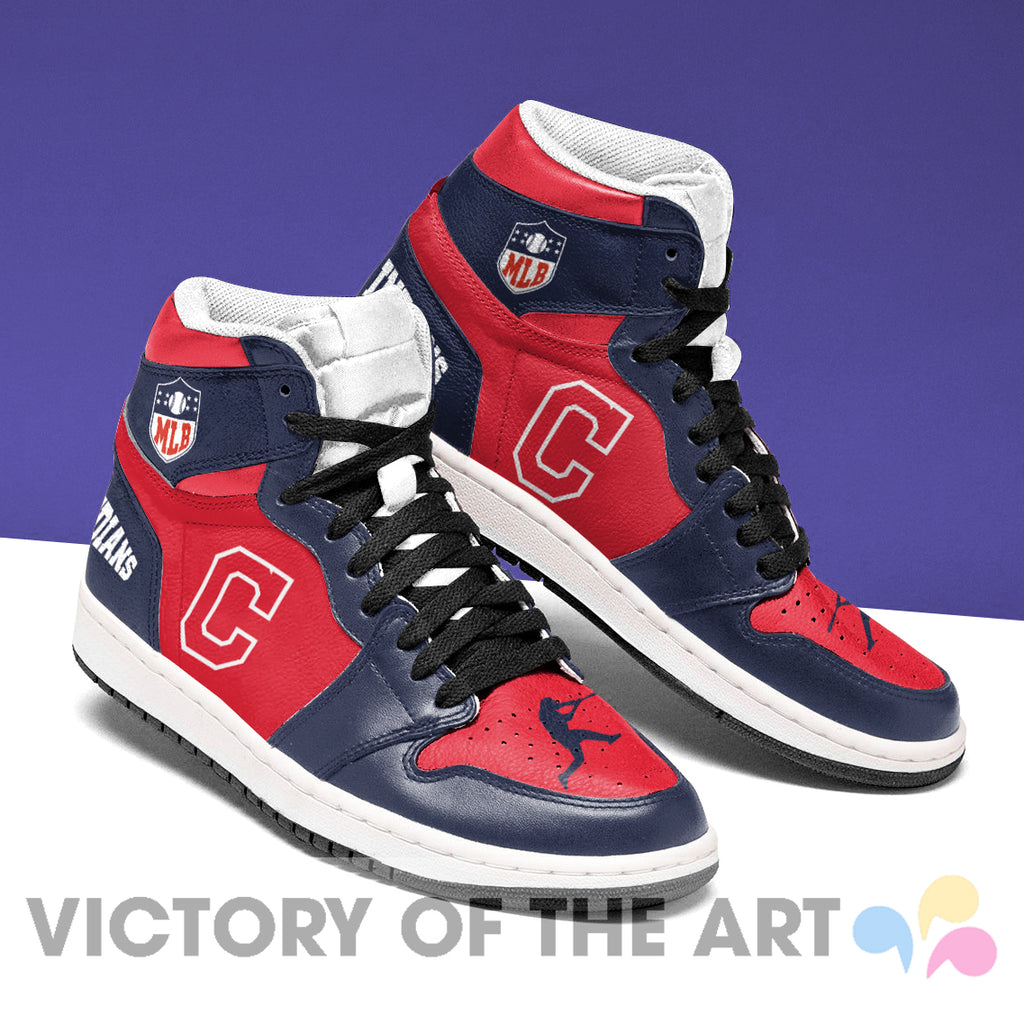 Simple Logo Cleveland Indians Jordan Shoes
