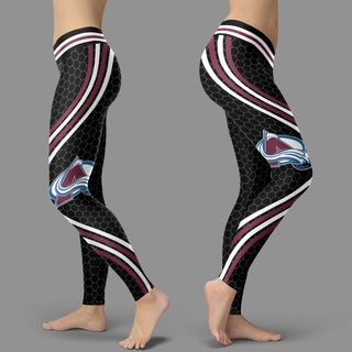 Black Curve Colorado Avalanche Leggings