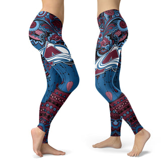 Boho Colorado Avalanche Leggings With Fantastic Art