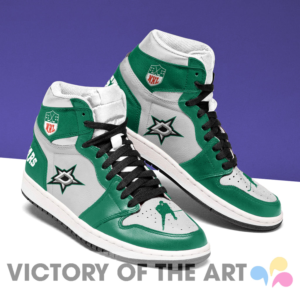 Simple Logo Dallas Stars Jordan Shoes