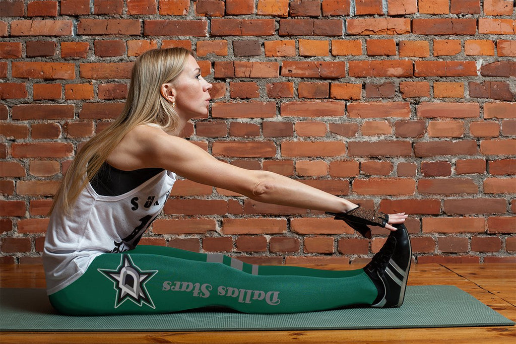Through Logo Spread Body Striped Circle Dallas Stars Leggings