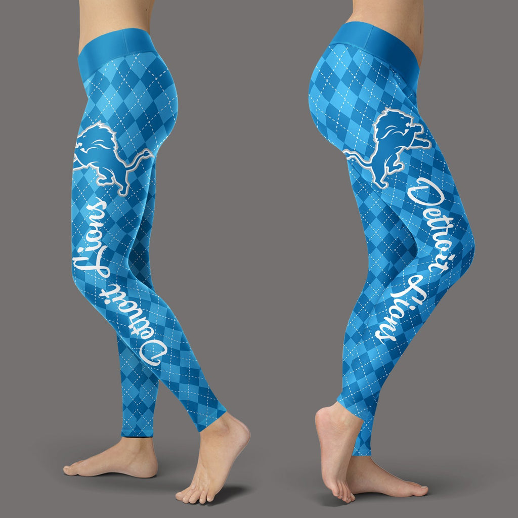 Cosy Seamless Colorful Detroit Lions Leggings