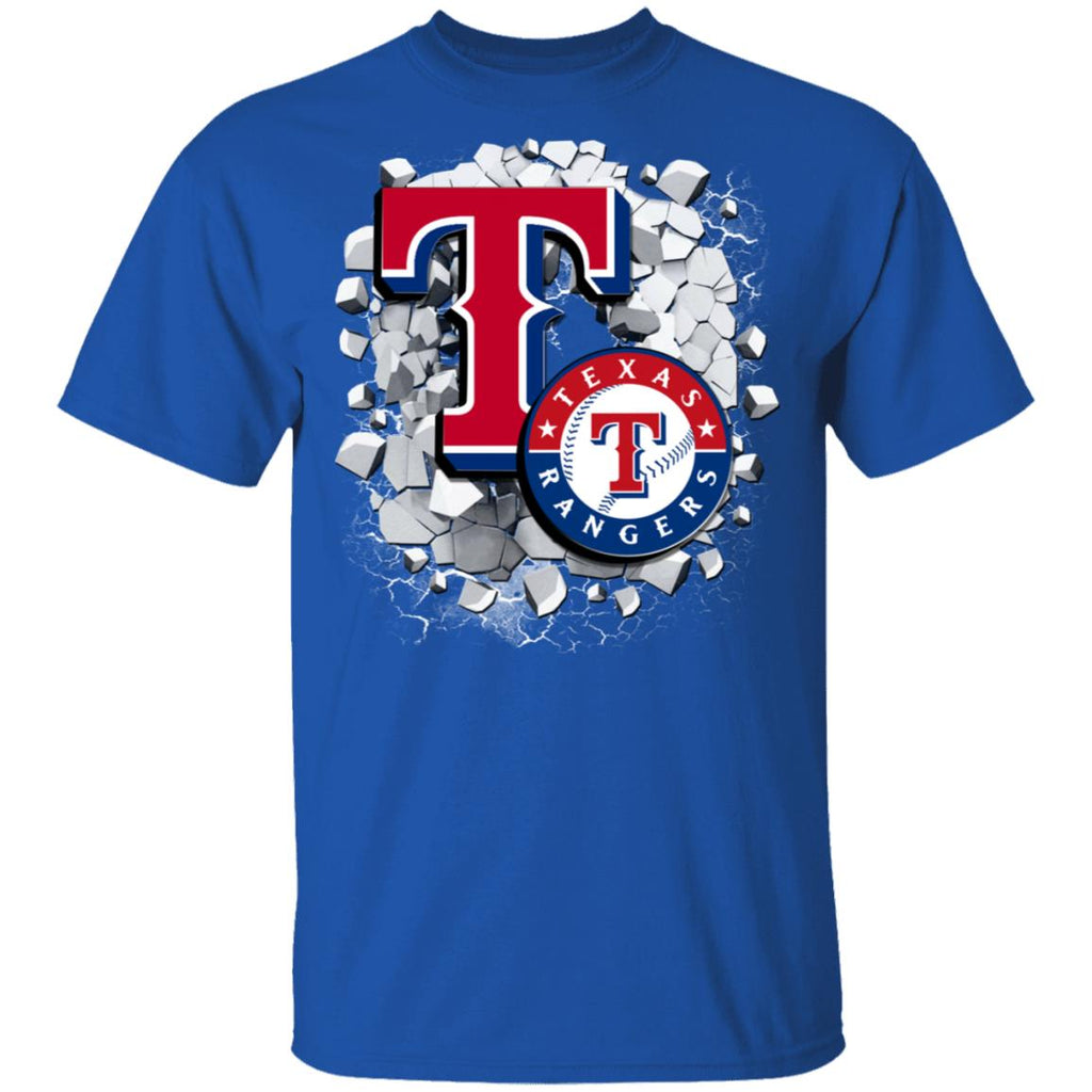 Amazing Earthquake Art Texas Rangers T Shirt