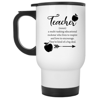 Teacher Funny Definition Travel Mugs