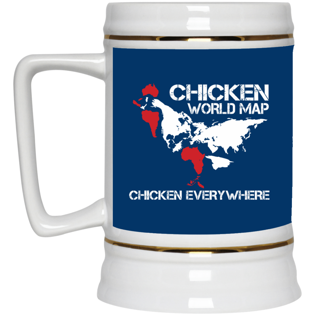 Funny Chicken Mugs - Chicken Map Ver 1, is cool gift for friends