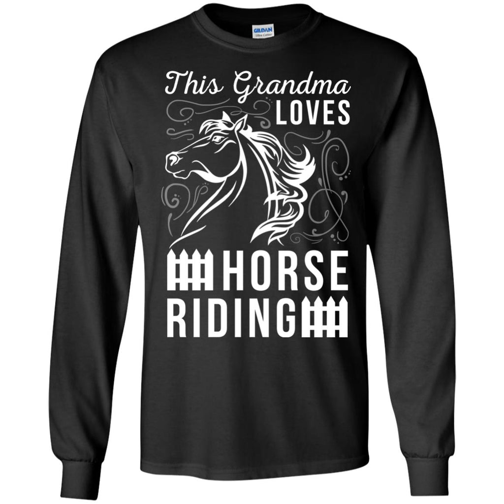 This Grandma Loves Horse Riding Horse Tshirt For Equestrian Gift