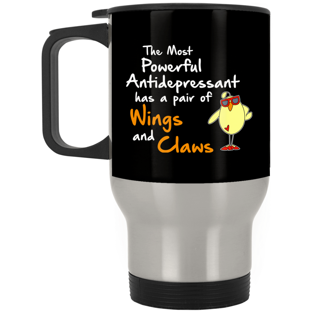Nice Chicken Mugs - The Most Powerful Antidepressant, is cool gift