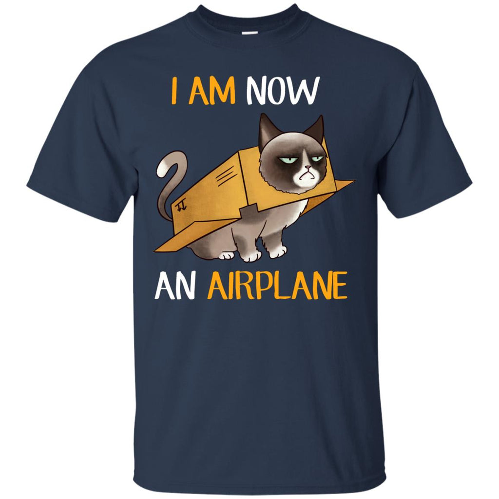 I Am Now An Airplane Cat TShirt For Kitten Lover Gift