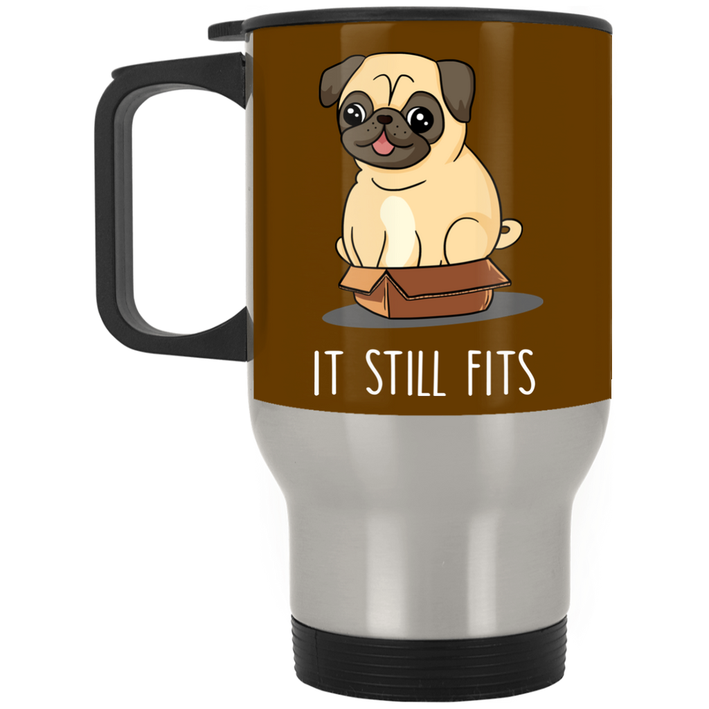 Cute Pug Black Mugs - It Still Fits Pug, is cool gift for friends