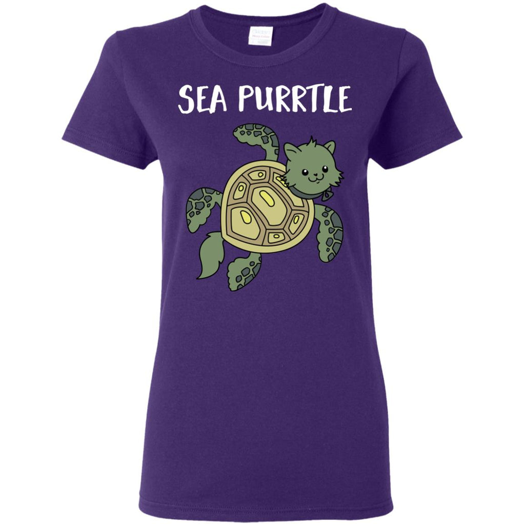 Cute Cat Tee Shirt - Sea Purrtle is cool gift for your friends