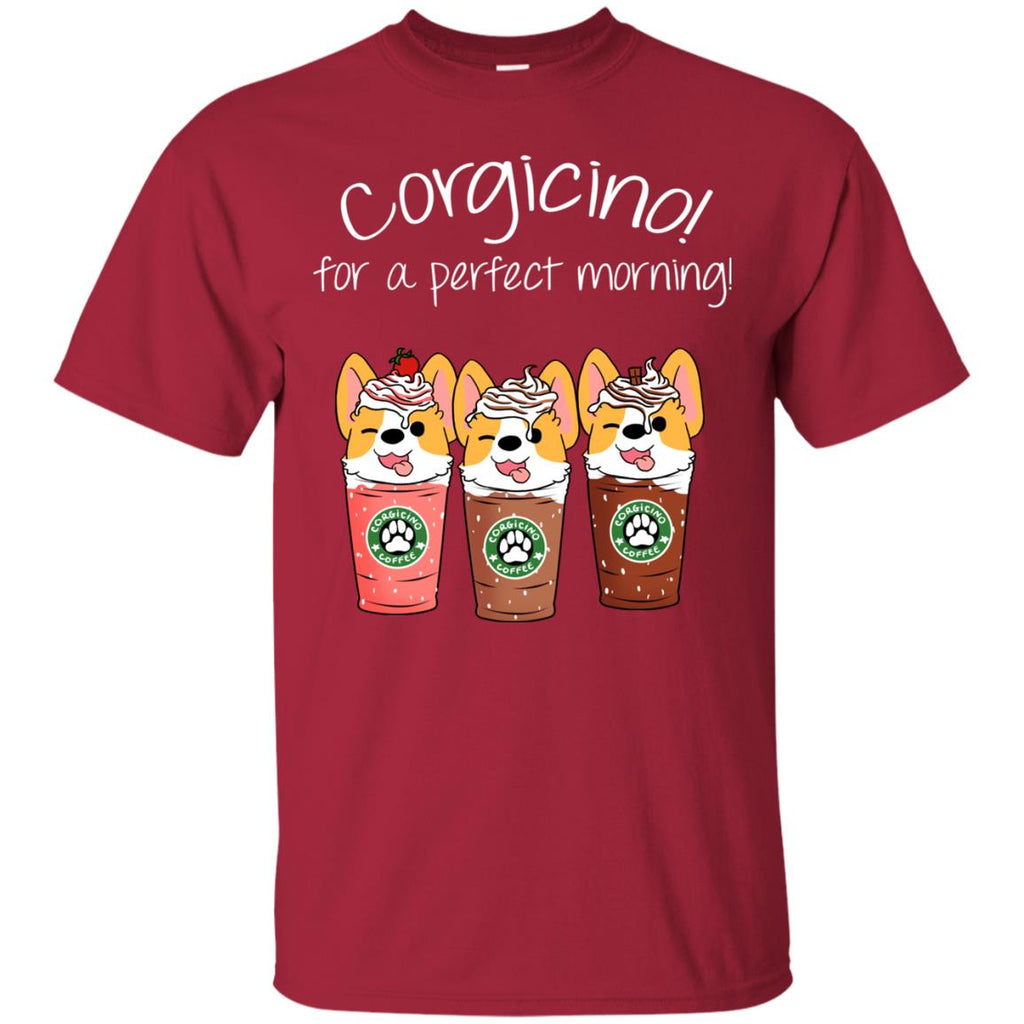 Corgicino For A Perfect Morning Funny Tshirt For Pembroke Dog Lover