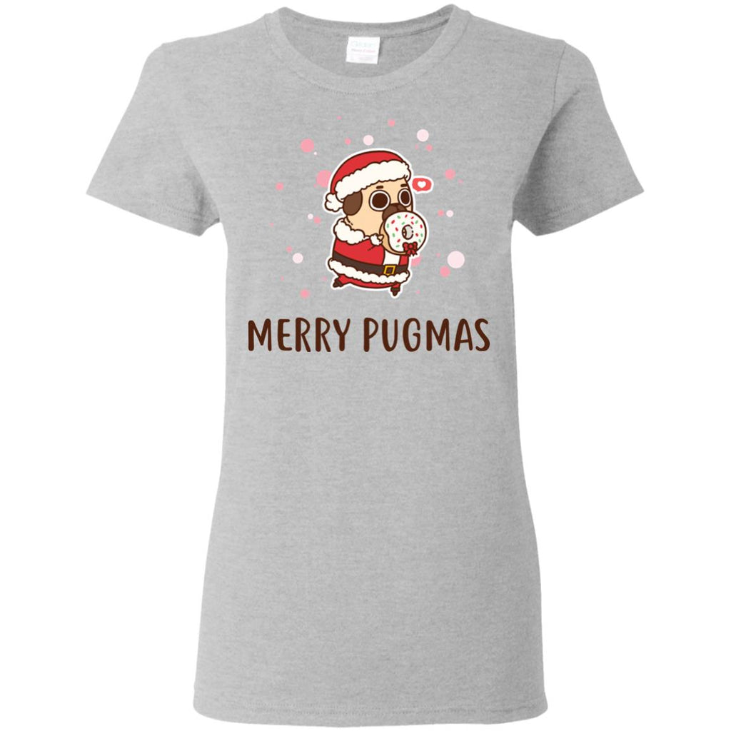 White Merry Pugmas For Pug Lover in Xmas Day