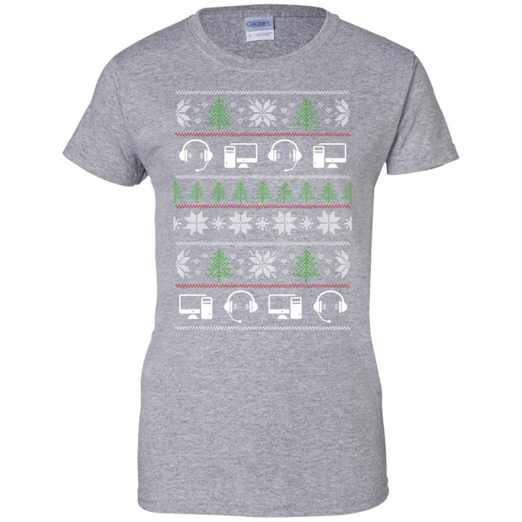 Ugly Sweater Dispatcher Symbol Tee Shirt Gift