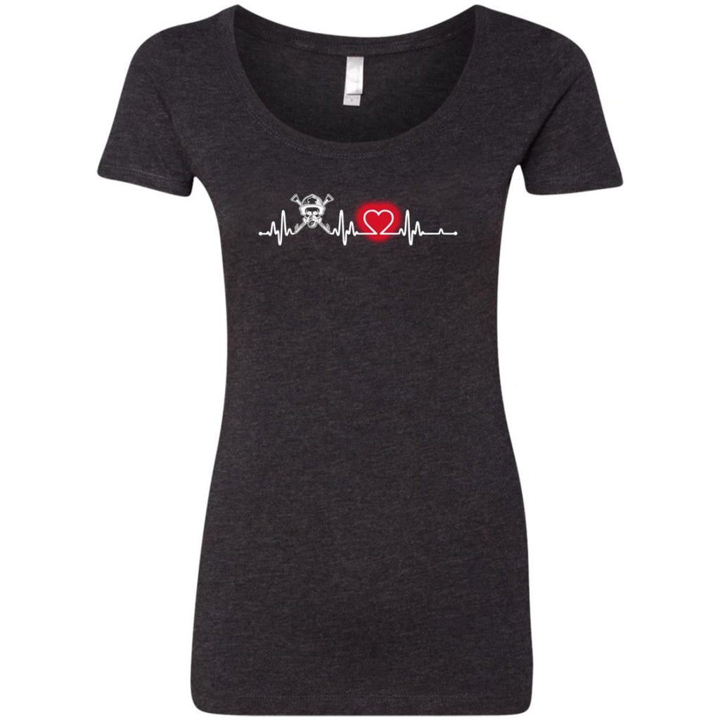Heart Beat Red Firefighter Tshirt For Lover