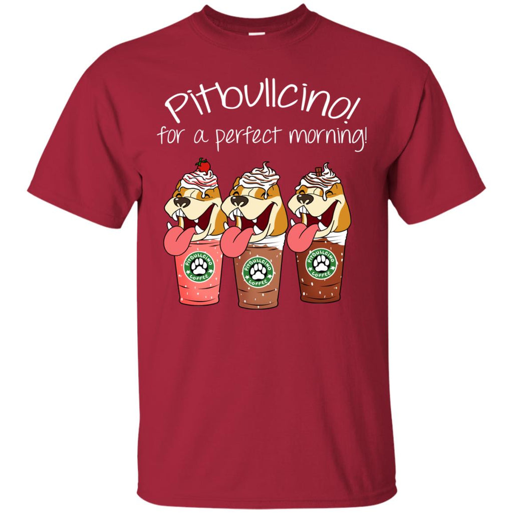 Pitbullcino For A Perfect Morning Funny T Shirt