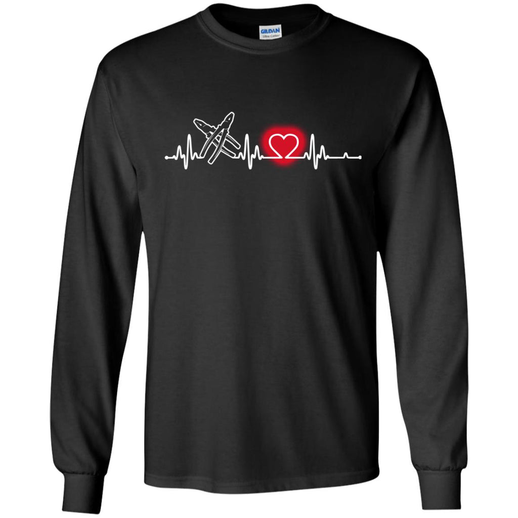 Heart Beat Red Electrician Tshirt For Lover