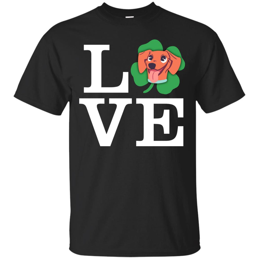 Funny Dachshund Dog Shirt Love Animals As Doxie Gift St. Patrick's Day