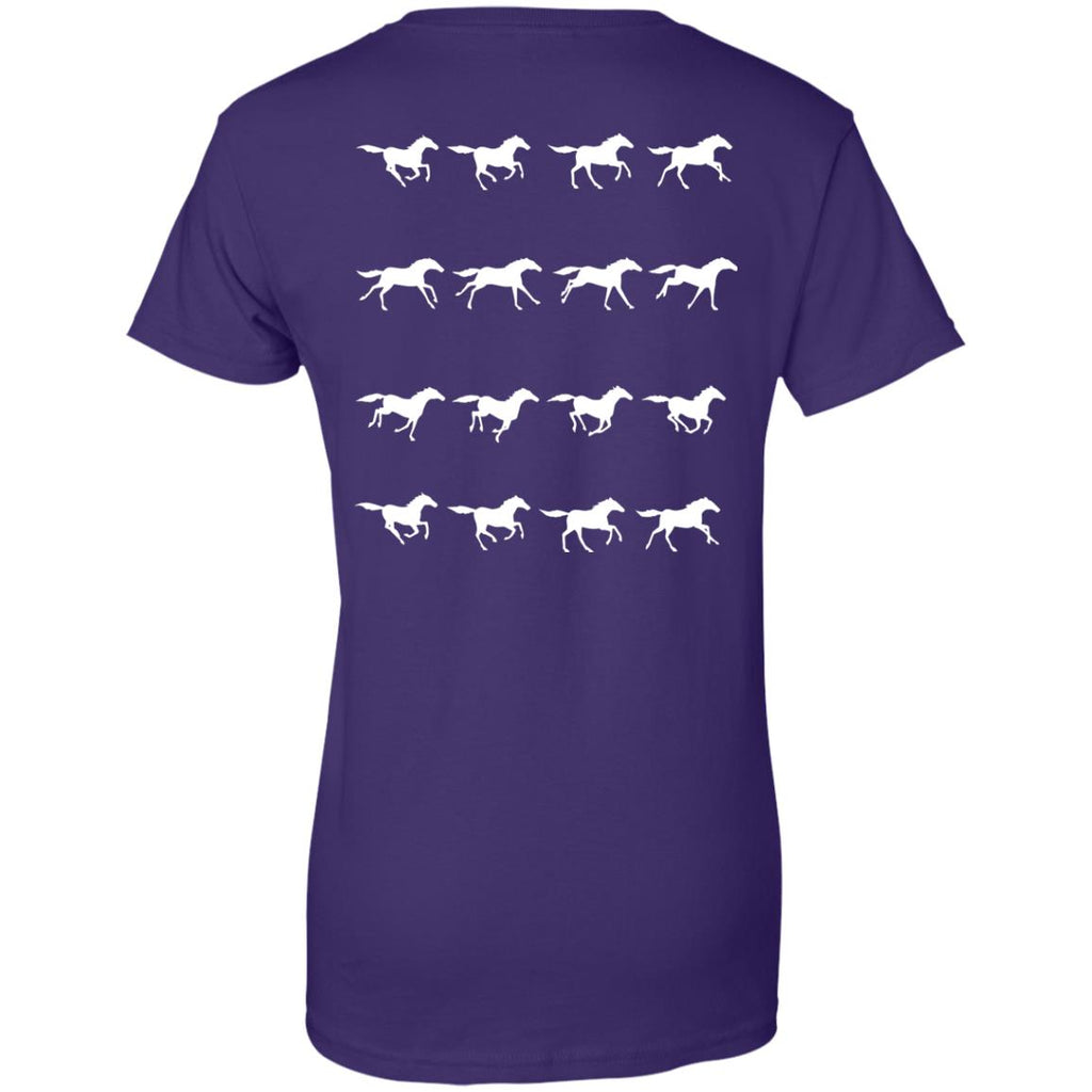 Horse Running Stop Motion Horse Tee Shirt For Equestrian Gift