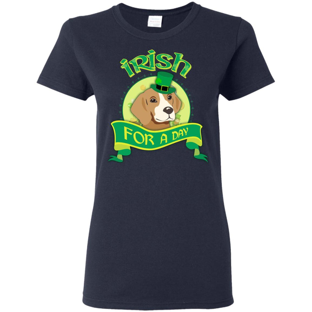 Funny Beagle Dog Shirt Irish For A Day as gift tshirt for St. Patrick's Day