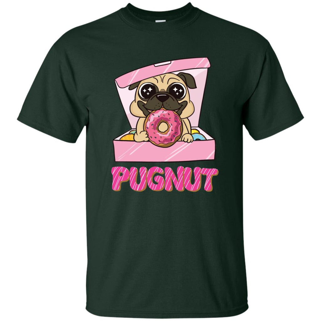 Funny Pugnut In Pug Tshirt For Puppy Lover