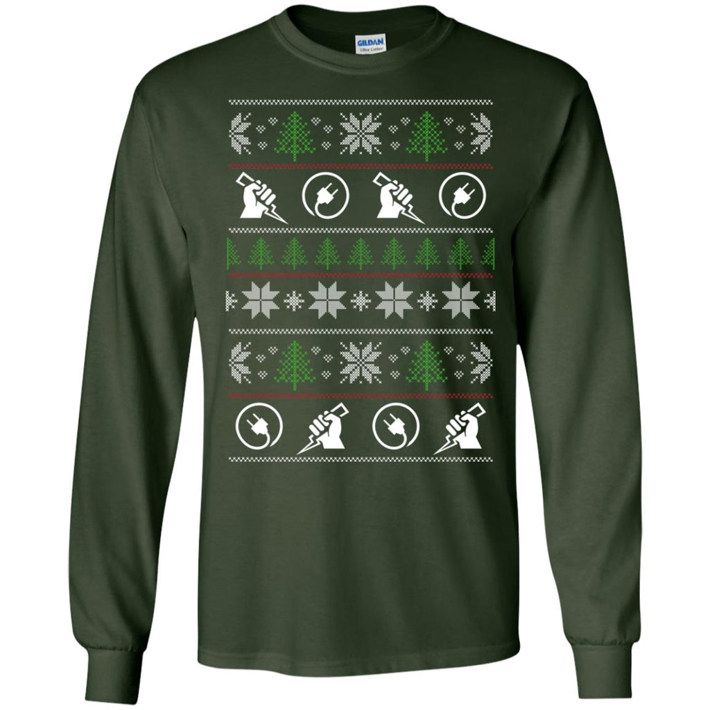 Ugly Sweater Electrician Symbol Tee Shirt Gift