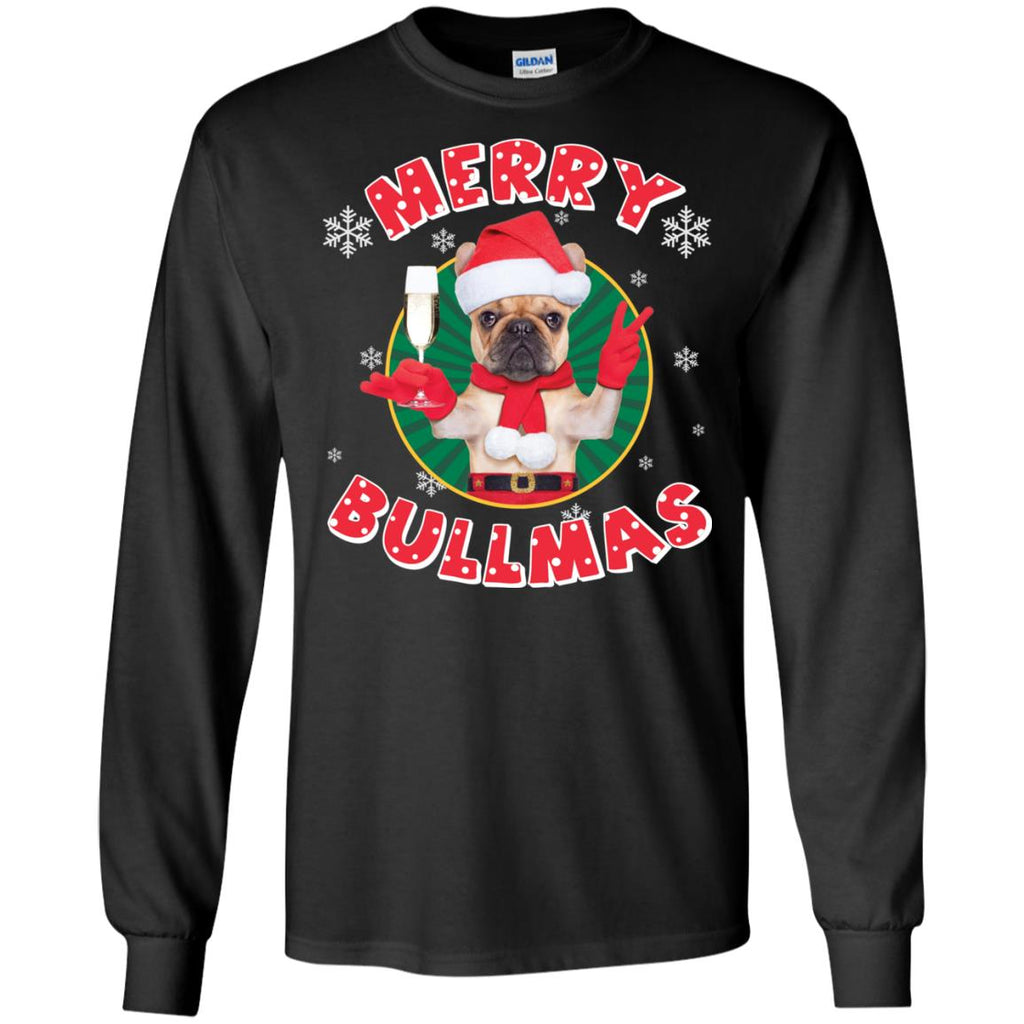 Merry Bullmas T-Shirt For Pug Lover